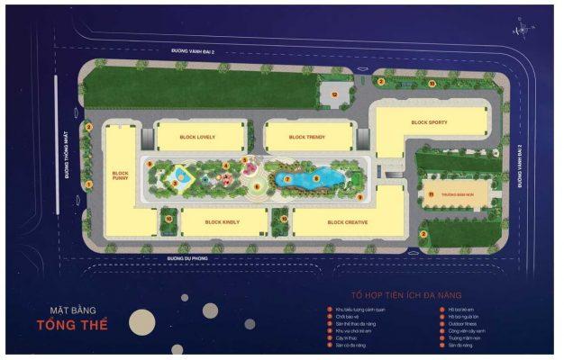 mặt bằng tổng thể dự án căn hộ New Galaxy Dĩ An - Bình Dương