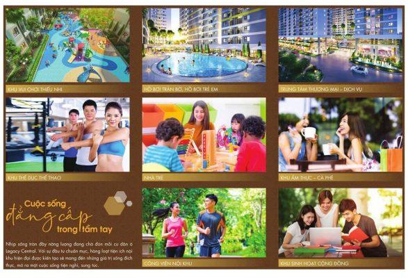 các tiện ích nội khu dự án legacy Thuận An