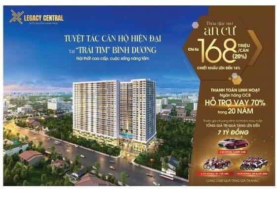 legacy central Thuận An đẳng cấp