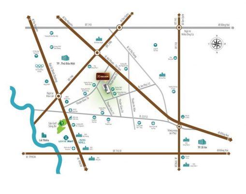 vị trí dự án căn hộ legacy central